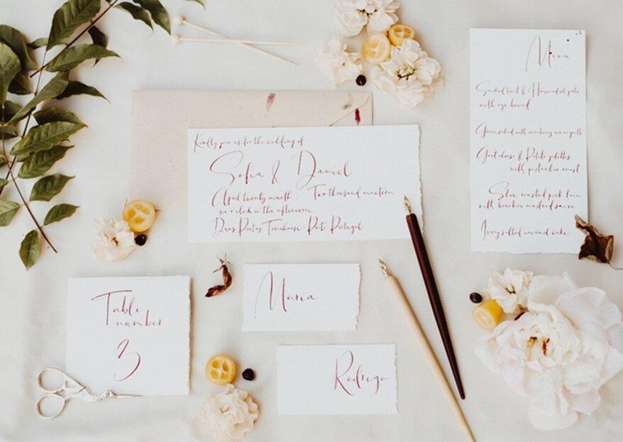 Levado à letra: os seus convites e estacionário personalizados com muito amor