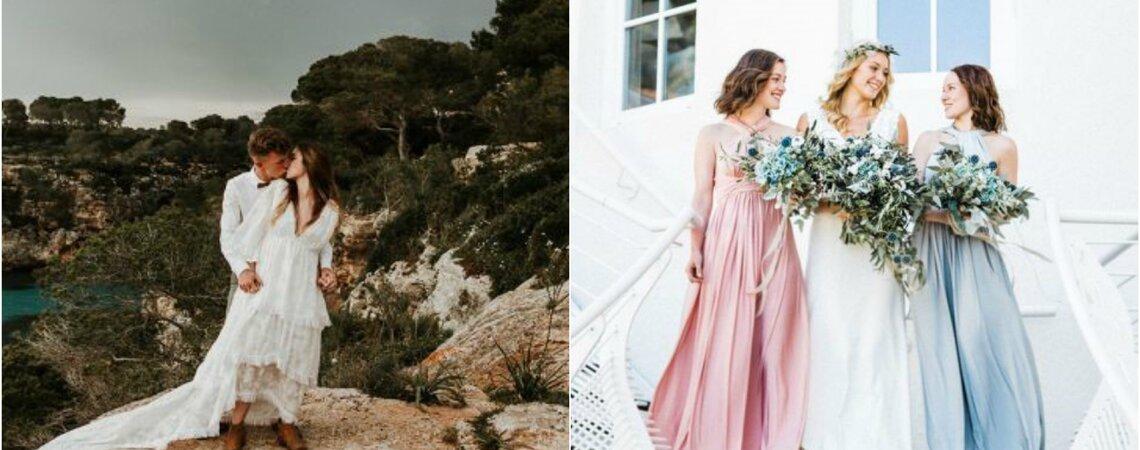 Die passenden Outfits für die Hochzeit in der Kirche und an der frischen Luft