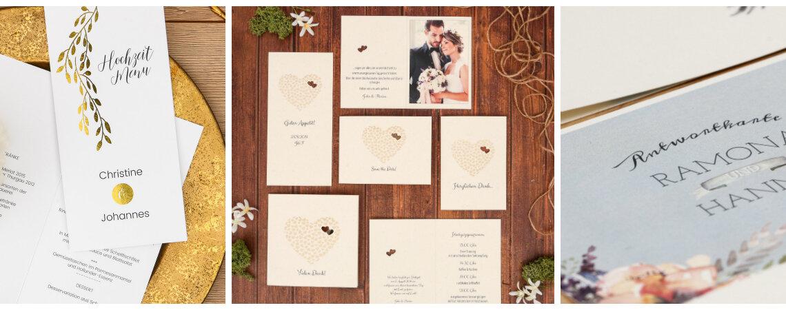 Hochzeitstrend Roségold, Silber und Glanz - so wird Ihre Hochzeitspapeterie zum Highlight!