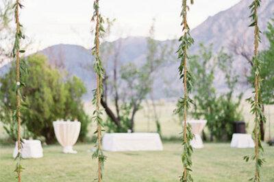 Inspirationen! Hochzeitsdeko für eine Hochzeit im Freien