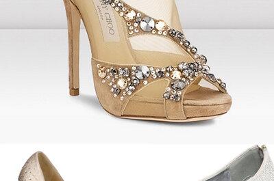 5 tendencias para tus zapatos de novia abiertos