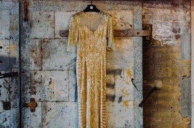 Vintage-Hochzeit in New York: Wie stylisch Maya und Uri sich im Loft das Ja-Wort geben