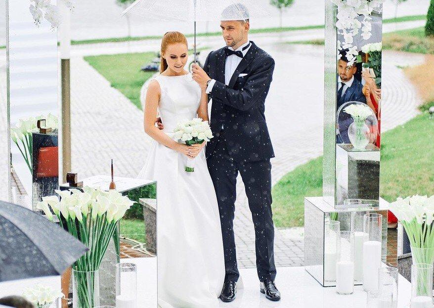 Дождь на свадьбе: решения на случай непогоды!