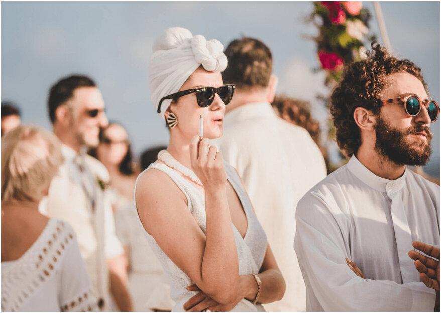 Fumadores en tu boda: consiéntelos con estas ideas, ¡sin incomodar a los demás!
