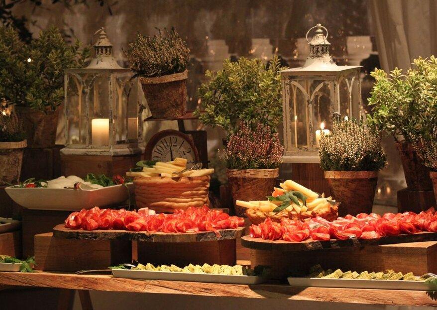 Un tripudio di sapori nei palati dei vostri ospiti, perchè ogni senso dovrà essere coinvolto durante le nozze!