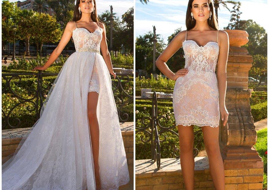 7 modelos de vestido de noiva 2 em 1 para você se apaixonar!
