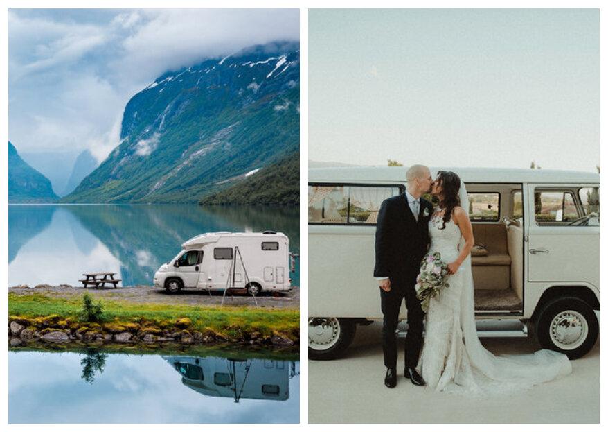 Een huwelijksreis in een camper is alles wat wij willen!