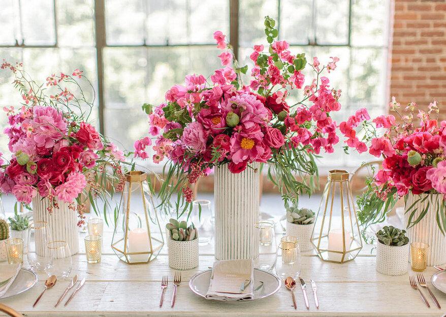 Cómo elegir las flores para decorar la boda en 5 pasos