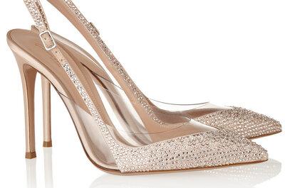 60 самых красивых туфель для невесты: Каблуки, стразы, цвета и не только!