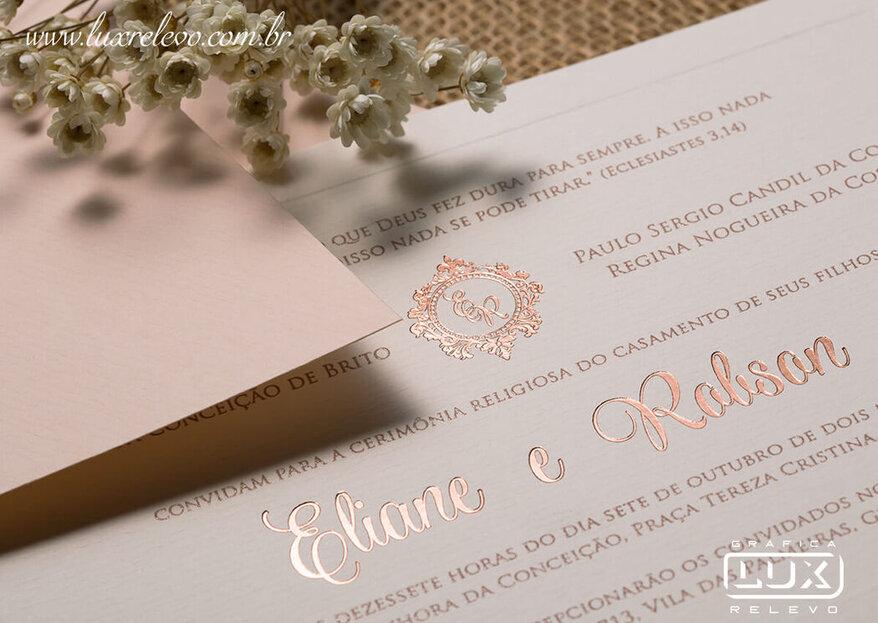 Gráfica Lux Relevo: 50 anos de dedicação e qualidade na produção de convites para casamentos excepcionais