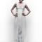 Vestido de novia 2013 con tirantes gruesos y detalles en color azul cielo