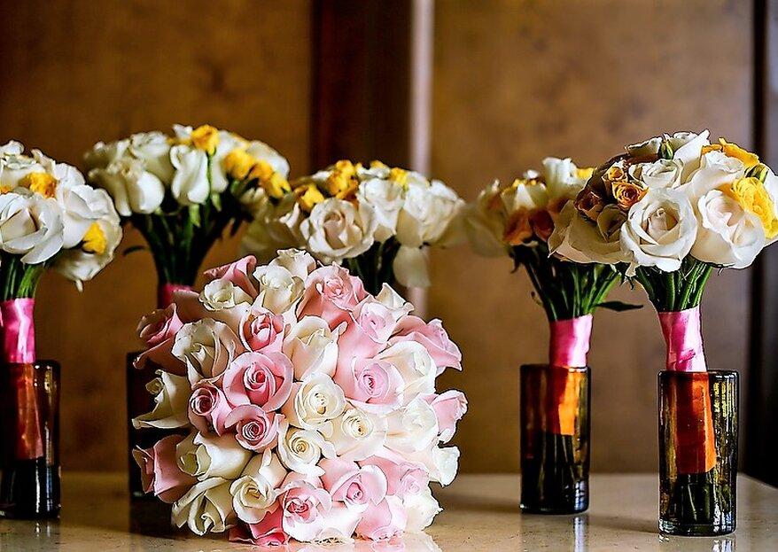 Los ramos ideales para las damas de boda