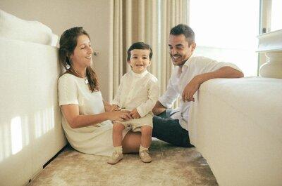 Bruna & Ricardo: Um batizado que se tornou um casamento lindo!