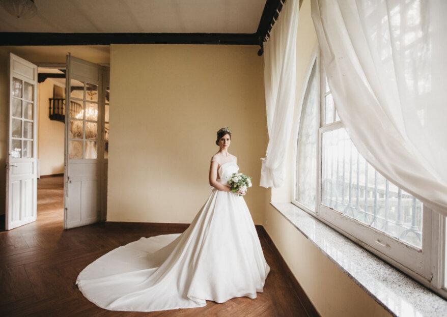 Lo clásico en su máxima expresión: el estilismo de novia que siempre es un acierto