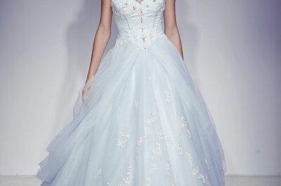 5 vestidos de novia en color azul colección Alfred Angelo 2013