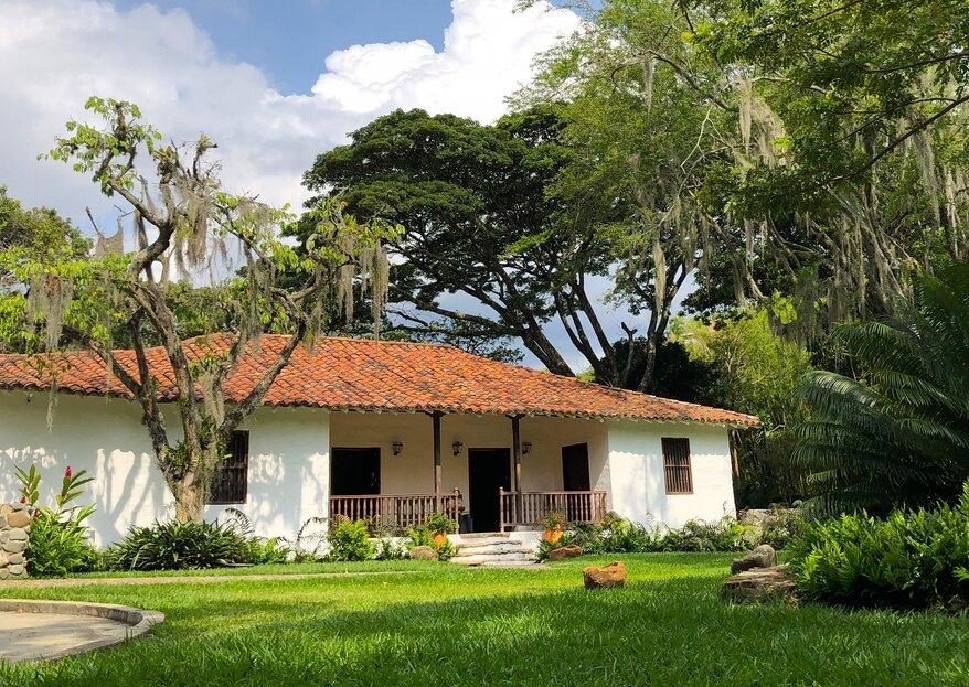 Los cinco espacios imprescindibles de Hacienda del Bosque para tu boda en Cali
