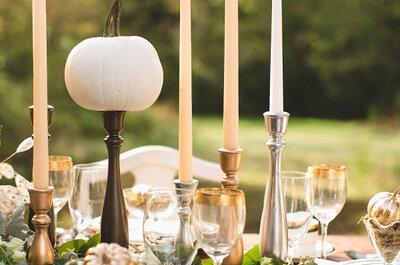 Die Hochzeitstische im Zentrum der Aufmerksamkeit, mit harmonischer Dekoration!