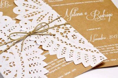 Convites de casamento em Curitiba: 11 fornecedores incríveis
