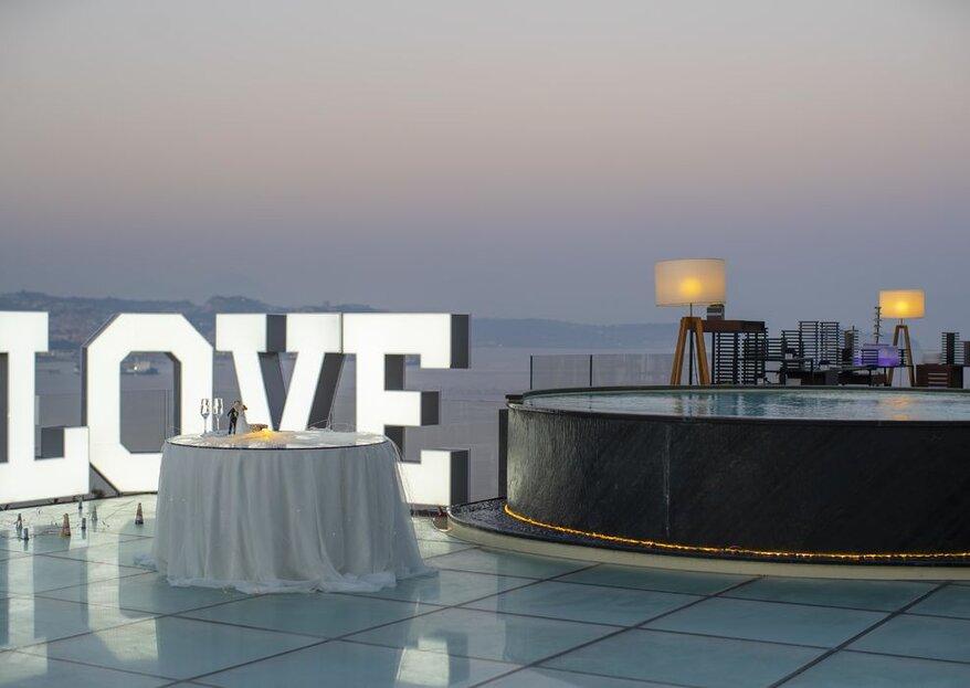 Il Gabbiano: terrazze panoramiche sul golfo di Pozzuoli per il tuo grande giorno!