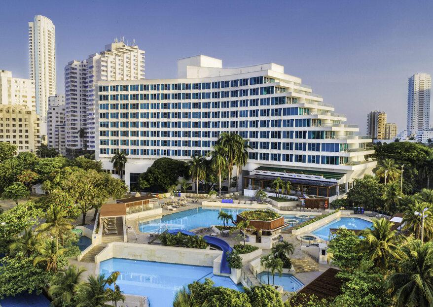 Hotel Hilton Cartagena un lugar ideal para tu boda en esta romántica ciudad