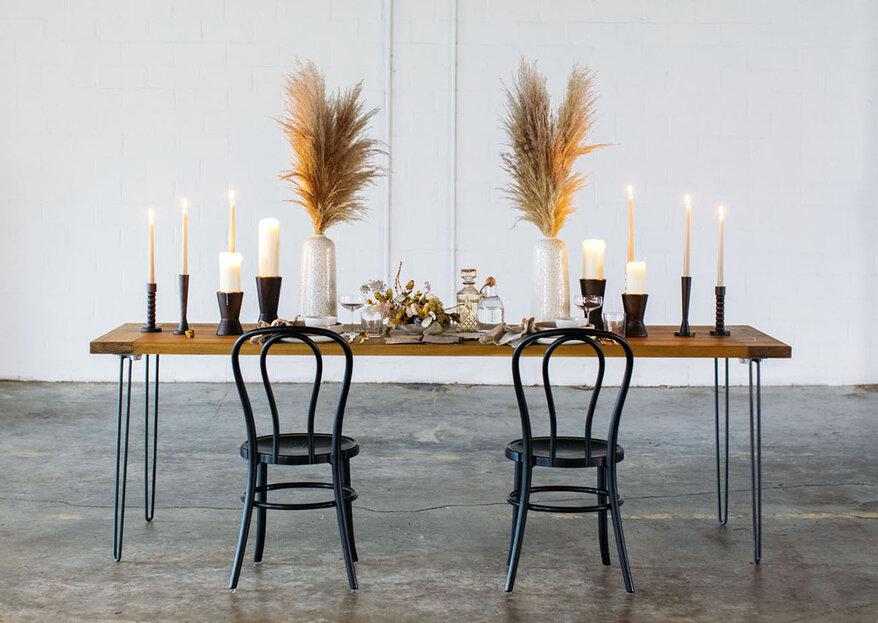 Cómo decorar tu boda sin flores: 5 ideas para mostrarte que es posible