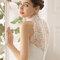 Свадебное платье с американской проймой и кружевной спиной