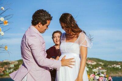 5 dicas perfeitas para escolher o vestido de noiva para grávidas!