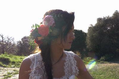 8 coiffures de mariée avec des fleurs pour faire éclore votre beauté !
