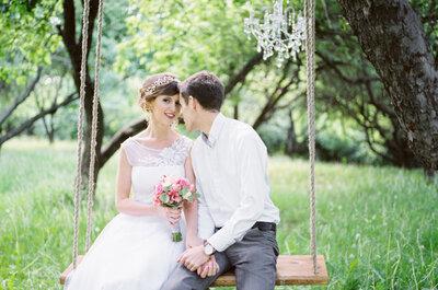 Нежная свадьба Насти и Дмитрия: романтика в яблоневом саду