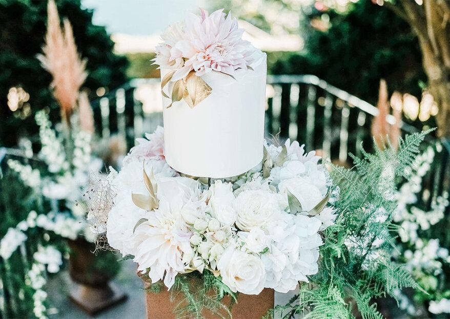 6 tipos de cobertura para bolos de casamento: as suas vantagens e desvantagens