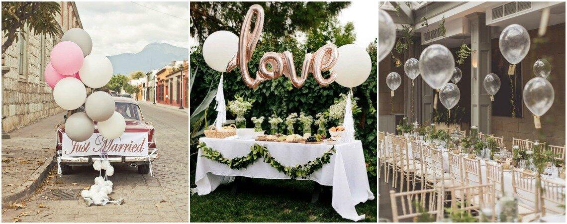 Hochzeitsdekorationen mit Luftballons – Ideen zum Abheben am grossen Tag