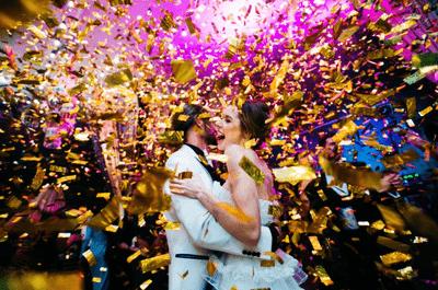Как организовать свадьбу в золотых и серебряных оттенках?