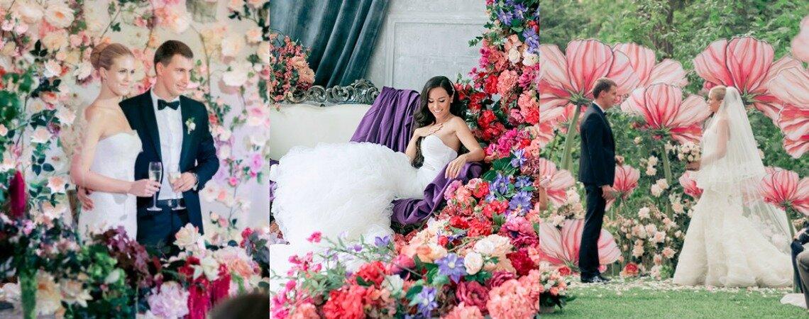 20 потрясающих идей для декорирования вашего торжества цветами!