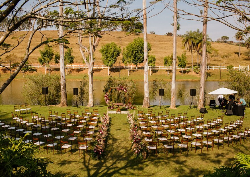 Espaço Shangrilá: Dinâmico, com atenção aos detalhes e um verde exuberante para o seu casamento ao ar livre. Você vai se encantar!
