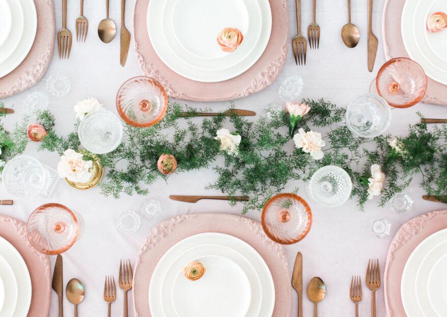 Aprende a elegir el tipo de mesa para el banquete de tu matrimonio. ¡Hazlo según el estilo de tu boda!