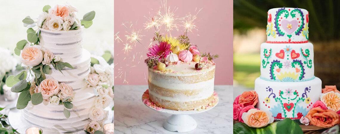 Tortas de novios románticas para matrimonios de ensueño