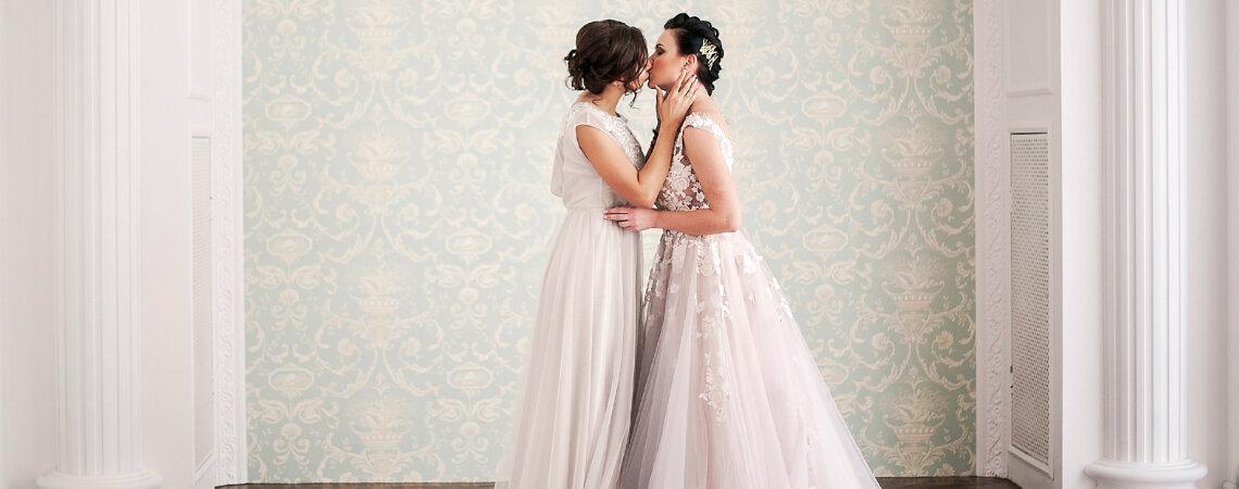 Без границ: нежная свадебная фотосессия Ксении и Алины