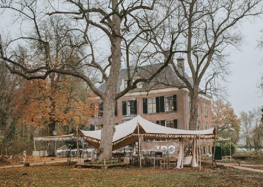 Regen op de bruiloft? Geen probleem met sfeervolle decoratie in de tent!
