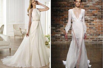 13 vestidos deslumbrantes para noivas de Inverno