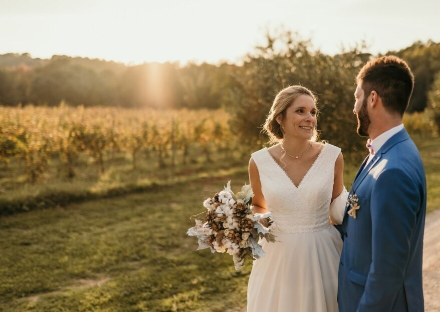 Anne et Thibault : un mariage aux couleurs automnales à la Bastide de Fangouse