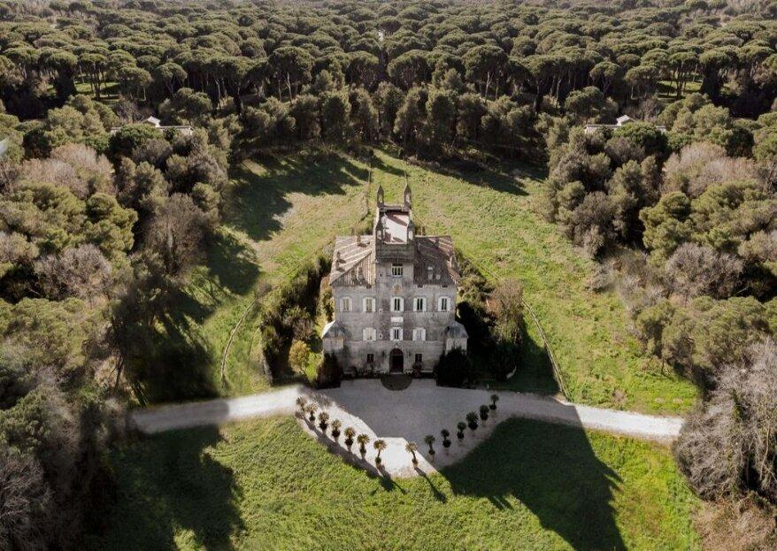 La location del cuore, quella adatta al vostro matrimonio: Castel Fusano