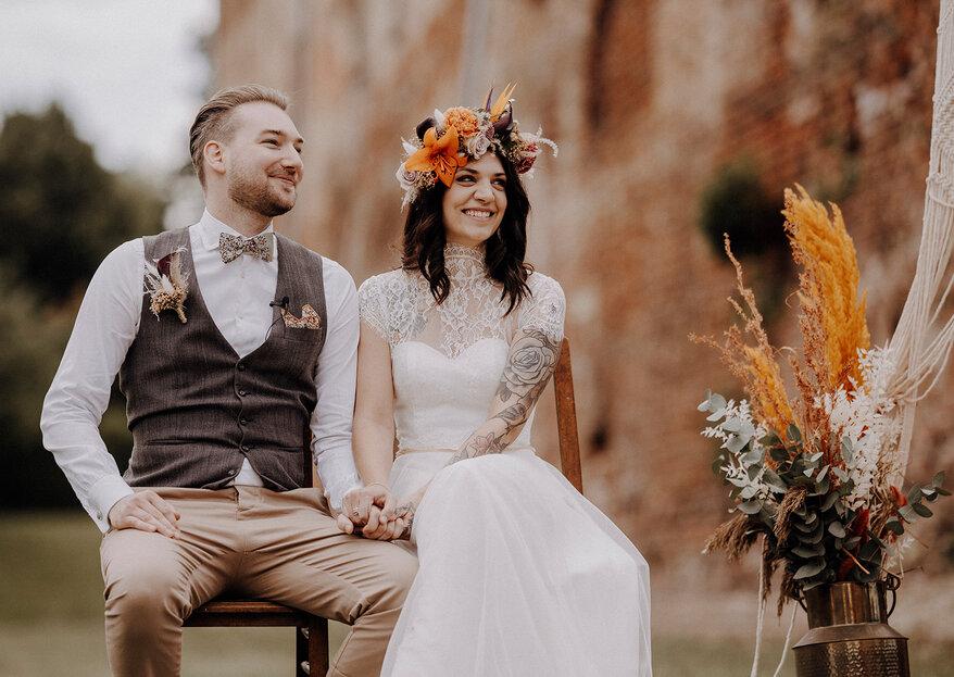 Das Hochzeitstrend-Duo 2021: Micro Wedding trifft auf freie Trauung durch Freunde
