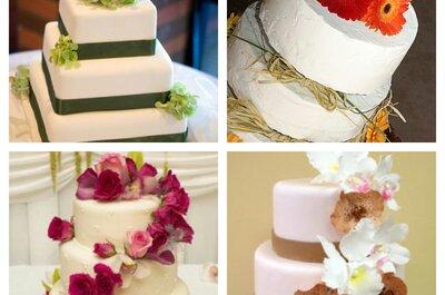 A beleza e delicadeza das flores naturais nos bolos de casamento