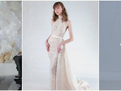 Suknie ślubne z dekoltem pod szyje: zmysłowe i urocze!