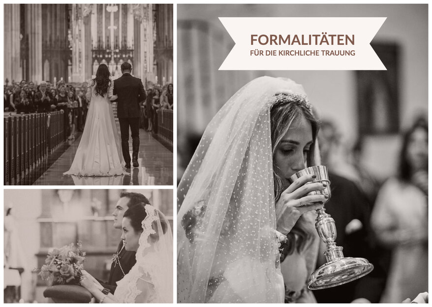 Formalitäten für die kirchliche Hochzeit: Welche Unterlagen dürfen nicht fehlen?