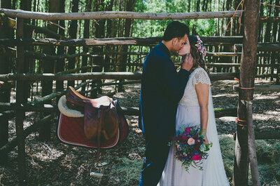 Pasión por la hípica: la boda de María e Iannis
