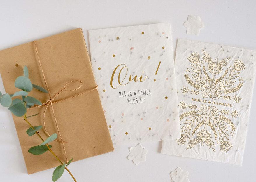 Envoyez des faire-part à planter à vos invités grâce à Growingpaper