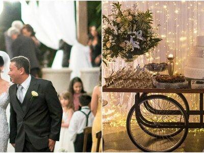 Casamento romântico de Bárbara & Frederico: decoração rústica e cerimônia linda ao ar livre
