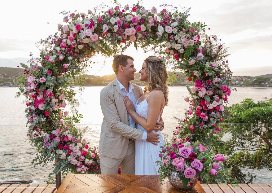 Karla & José: casamento em Búzios com clima leve, despojado, moderno e simplista, exatamente com os noivos desejavam