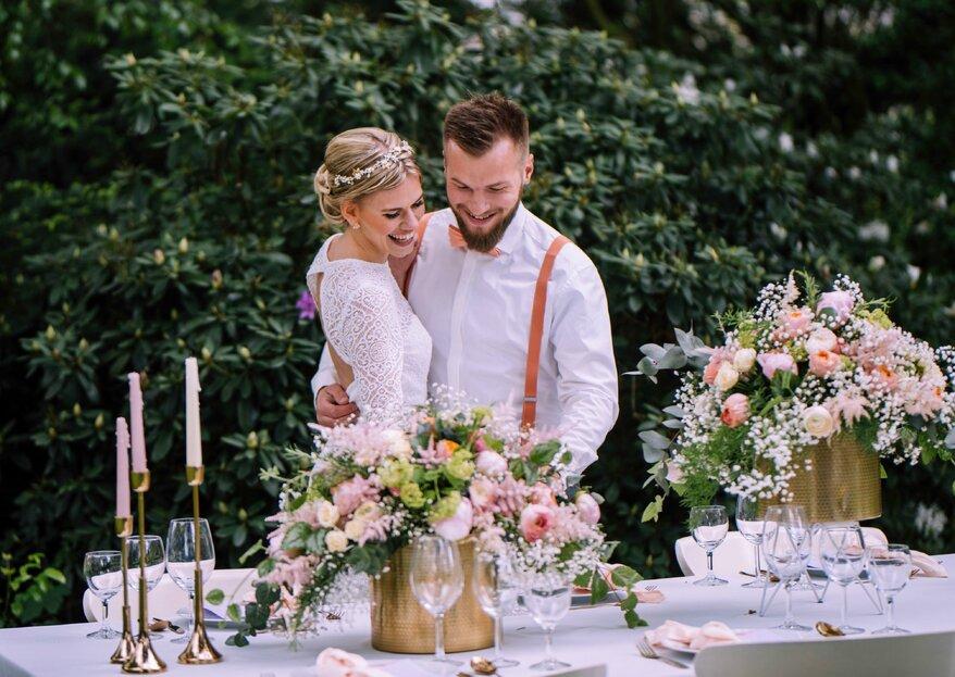 """Judith und Helmut: Hochzeitsinspiration unter dem Motto """"Living Coral in the Garden"""""""
